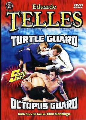 EDUARDO TELLES TURTLE & OCTOPUS GUARDS 5 DVD Training Set Jiu Jitsu BJJ MMA B522