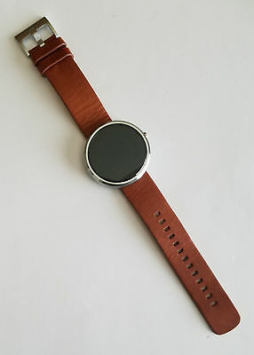 Motorola Moto 360 46mm Metal Case Cognac Leather Buckle Smartwatch - 00565NARTL2 comprar usado  Enviando para Brazil