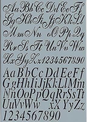Nummern Alphabet DIY shabby chic alt Schrift Schriftzug 002 (Alphabet Nummer)