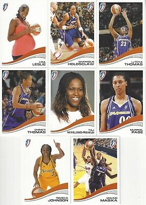 2007 WNBA RITTENHOUSE LOS ANGELES SPARKS TEAM SUBSET 8 CARDS* LESLIE HOLDSCLAW +
