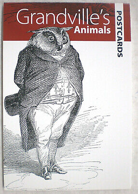 Dover GRANDVILLE'S ANIMALS  Postcards 2011 12 full-color ready-to-mail* - Animals To Color