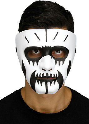 Black and White Voodoo Fangs Clown Costume - Black And White Masks