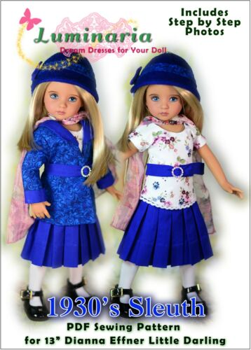 """Little Darling Doll Dress Pattern for 13"""" Dianna Effner My Meadow Avery Paola"""