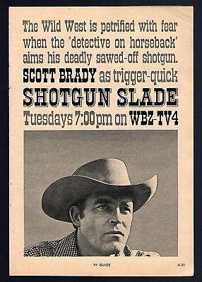 1960 Tv Ad Shotgun Slade With Scott Brady Western Series Wbz Channel 4
