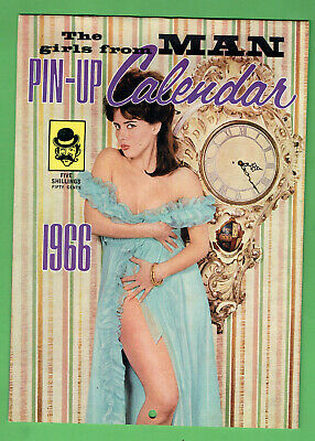 #GG.   1966  THE  GIRLS  FROM MAN  MAGAZINE  PINUP  CALENDAR