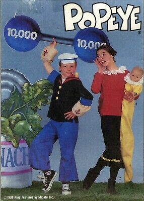 Simplicity Sewing Pattern 8831 Popeye and Olive Oil Costumes Sizes 6-7-8 Uncut](Olive Oil And Popeye Costumes)