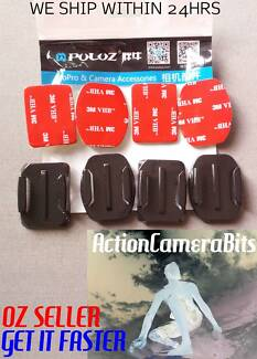2 Flat 2 Curved 3M Adhesive sticky mount GoPro Hero 3 4 5 6