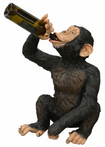 "27"" Boozy Chimp Wine Bottle Holder Novelty Bar Kitchen Decor"