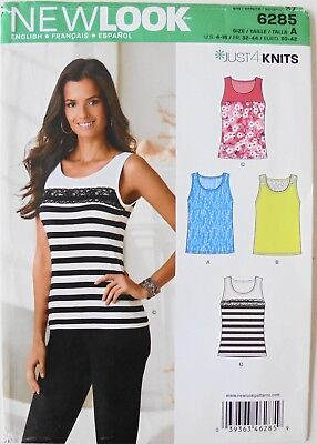 New Look 6245 Misses Just 4 Knits Tops Sewing Pattern Sz 4-16 ()