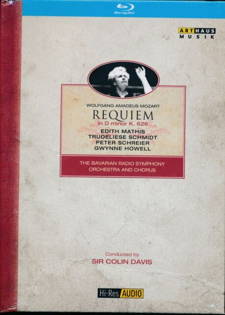 Mozart Requiem in D minor K 626 DVD NEW Edith Mathis Peter Schrieier Howell