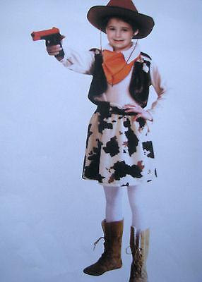 Cowgirl Kostüm Mädchen (Cowgirl Kinder Kostüm Faschingskostüm, 4tlg.Karneval Mädchen 116 oder 128  NEU )