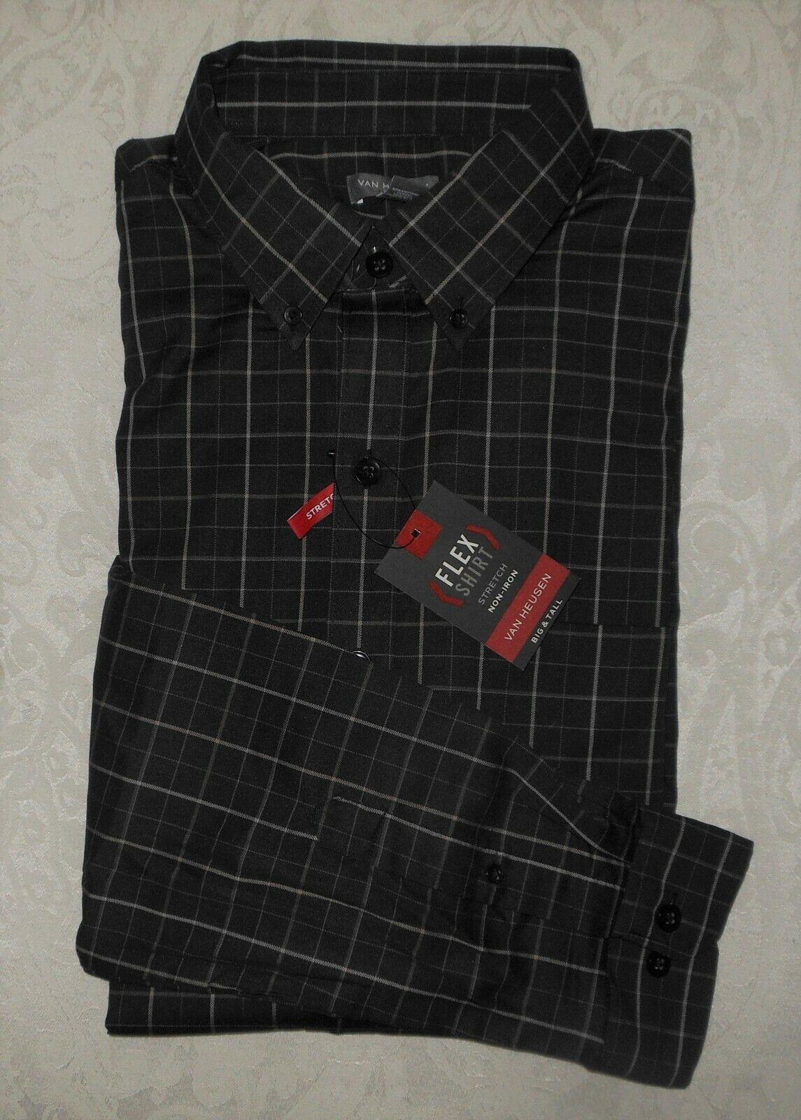 Mens Big & Tall Van Heusen Flex Stretch Buttondown Dress Shi