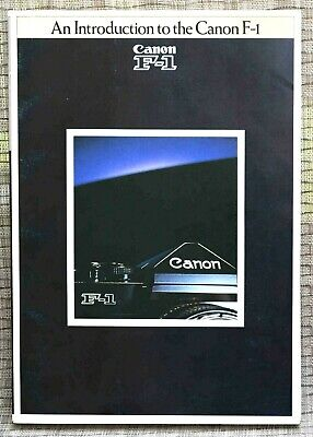 AN INTRODUCTION TO THE CANON F-1 super-rare guide to the original F-1 - VINTAGE!