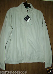 TOMMY-HILFIGER-LOGO-MENS-LIGHT-WEIGHT-PACKABLE-JACKET-OYSTER-SZ-L-XL-NWT