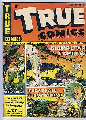 True Comics #30 True Comics Pub. 1943  Cooper Brothers Baseball story