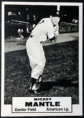 Issue Mickey Mantle - 1961 Topps Dice Game Mickey Mantle Reprint - MINT - Never Issued - Test Issue