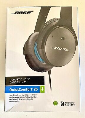 New Bose QuietComfort 25 Noise Cancelling Headphones Android devices Black Wired