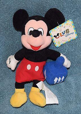 "Rare Club Disney HANUKKAH  MICKEY MOUSE DREIDEL 7"" Mini Bean Bag Plush - NWT"