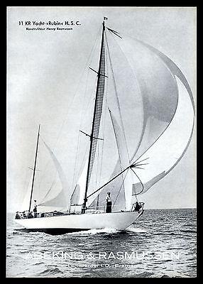 Grosse Werbung 1959 11 KR Yacht RUBIN H.S.C. Werft  Abeking & Rasmussen Bremen
