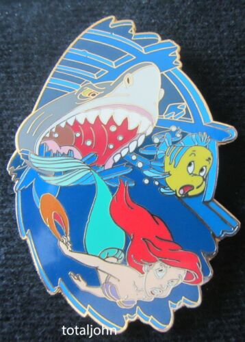 38980 Disney Auctions - Ariel Chased by Shark Pin LE 500