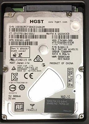 Hgst Travelstar Z7k500 Hts725050a7e630 500Gb Internal 7200Rpm 2 5   0J26005  Hdd