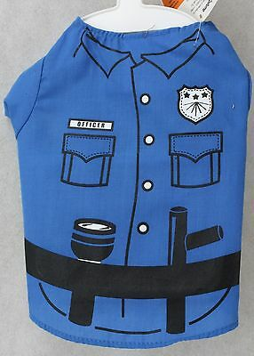 Grreat Choice Halloween Blue Police Officer Shirt Pet Dog Costume Sz Medium NWT - Police Dog Costume Halloween