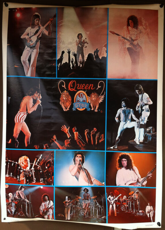 QUEEN 1977 Day At The Races Poster Huge 42 x 58 FREDDIE MERCURY