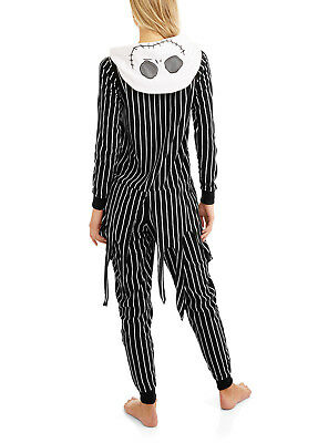 Nightmare Before Xmas Costumes (Nightmare Before Christmas Hooded Pajamas Union Suit Adult One Piece)