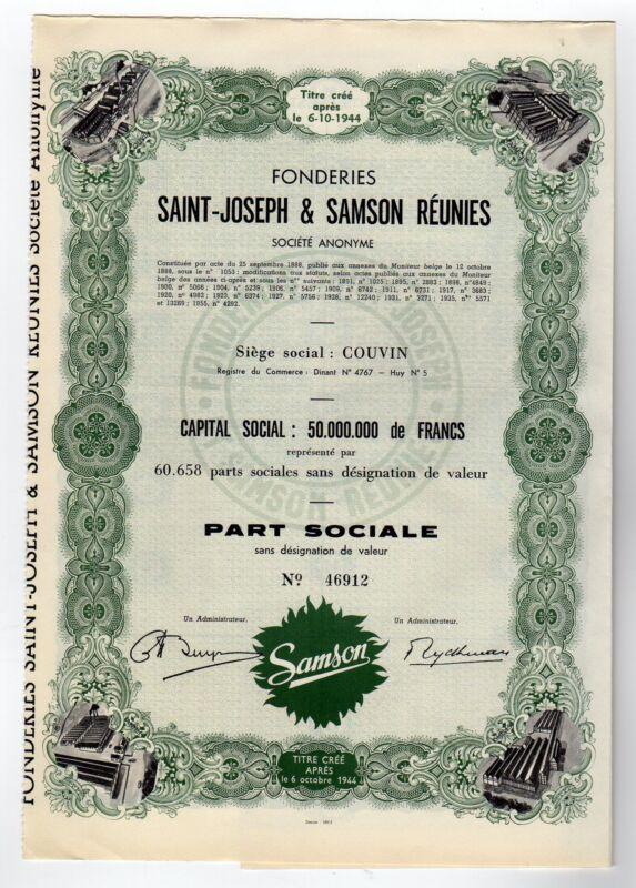 Fonderies Saint-Joseph & Samson Reunies bond