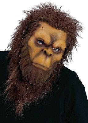 HALLOWEEN ADULT BIG FOOT SASQUATCH  LATEX  MASK PROP - Bigfoot Masks