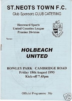 ST NEOTS TOWN  V HOLBEACH UTD  UNITED COUNTIES  LEAGUE  18/8/95