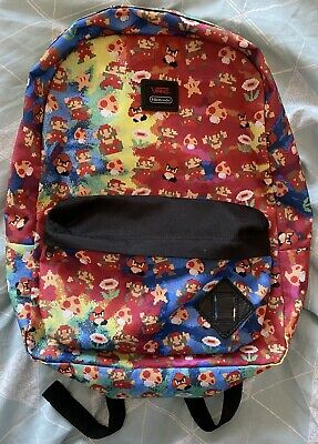 Vans Off The Wall Nintendo Super Mario Bros Print Back Pack Rucksack Bag Rare