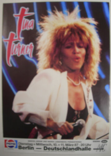 TINA TURNER CONCERT TOUR POSTER 1987 BREAK EVERY RULE BERLIN