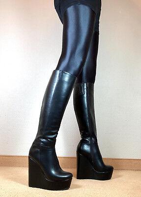 High Heels Wedges Plateau Stiefel Damen Männer Boots EU42 UK8 US11 16cm Absatz