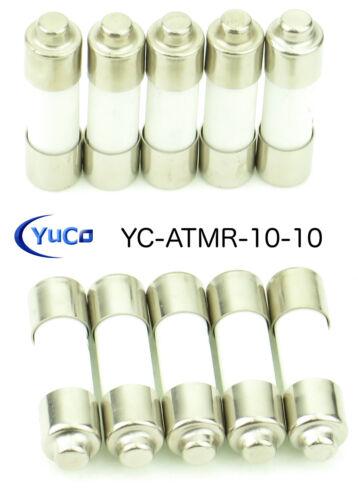 (10) YC-ATMR-10 Fast-Acting Midget Fuse KTKR10 ATMR10 KLKR10 HCLR10 600V