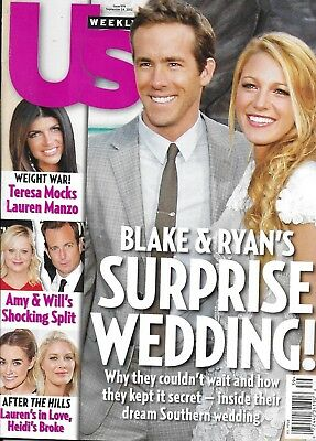 Us Weekly Magazine Ryan Reynolds Blake Lively Lauren Conrad Daniela Ruah (Blake Lively Style)