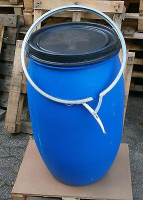 Regentonne Wassertonne Maischetonne Futtertonne Tonne 120L mit Deckel blau