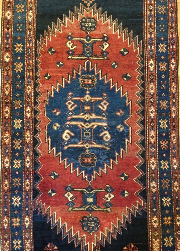 Amazing Azerbaijani - 1900s Antique Kurdish Runner - Tribal Rug - 3.6 X 13 Ft.