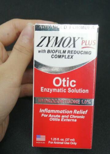 Zymox Plus Advanced Formula  Dog & Cat Ear Solution,1.25oz