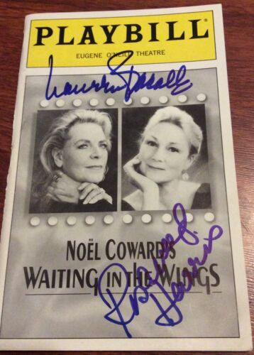 LAUREN BACALL ROSEMARY HARRIS SIGNED WAITING IN THE WINGS PLAYBILL BROADWAY NYC