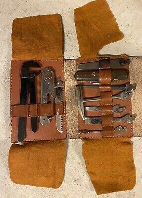 RARE! Vintage H Boker & Co. Multi Tool Kit Knife Hammer Saw File 10 Pc Set Case