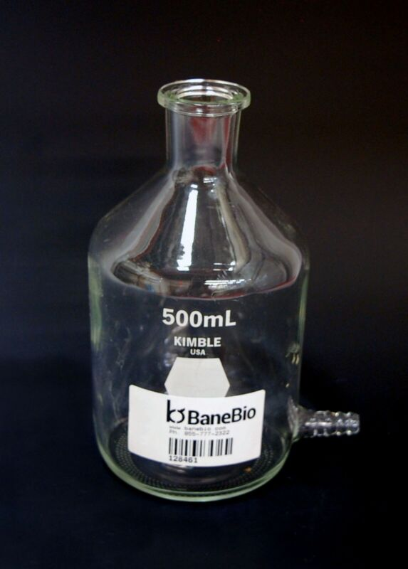 Corning 1220-500 500 mL Aspirator Bottle w/ Bottom Sidearm