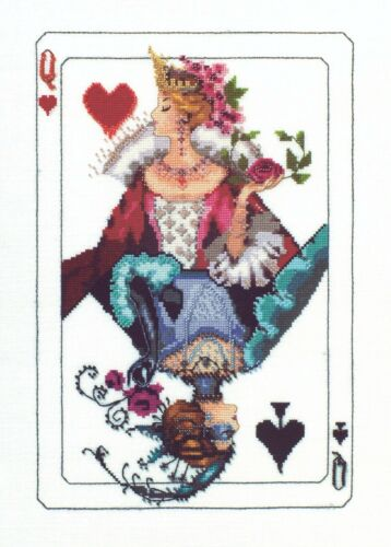 Royal Games I Queen of Hearts Kit Chart Fabric Beads Braid M