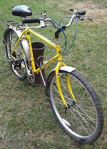 Vintage man's Bianchi 18speed yellow touring bike 1986 -87