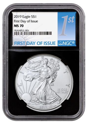 2019 1 oz American Silver Eagle $1 NGC MS70 FDI Black Core Holder SKU55778