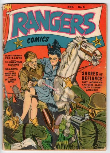 RANGERS COMICS #8 GLORY FORBES FICTION HOUSE 1942 GD+