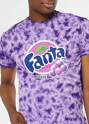 Coca-Cola Men's Fanta Grape Graphic Purple Tie Dye Licensed T-Shirt Size 2XL New