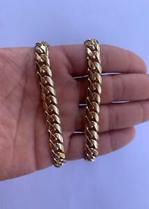 Solid 9ct gold 120 gram curb chain with box lock.