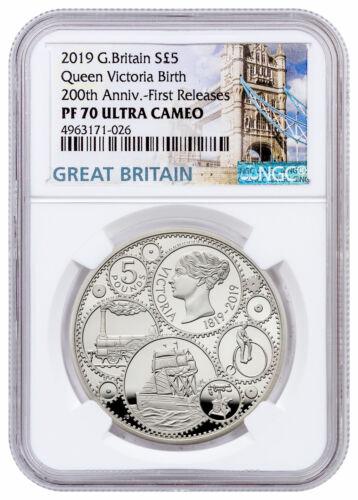 2019 Britain 200th Commemorative Queen Victoria Silver NGC PF70 UC FR