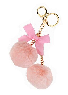 Ella Jonte Llavero con Pompones Pompones Rosa Oro Lazo Colgante Bolso